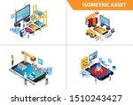 modern 3d isometric set...   Shutterstock .eps vector #1510243427