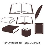 Book. Set. Vector Illustration