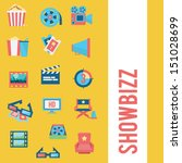 movie icon set | Shutterstock .eps vector #151028699