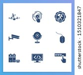 electronics icon set and...