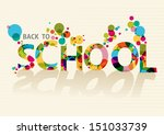 colorful back to school text ... | Shutterstock .eps vector #151033739
