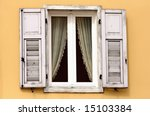 Vintage Wooden Window With Lac...