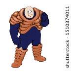 a sci fi bulky alien character    Shutterstock . vector #1510374011