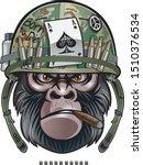 gorilla soldier wearing... | Shutterstock .eps vector #1510376534