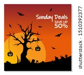sale banner for happy halloween ... | Shutterstock .eps vector #1510392377