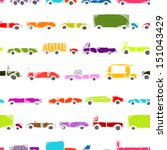 toy cars collection  seamless... | Shutterstock .eps vector #151043429