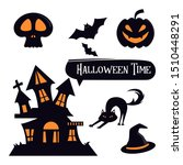 set of halloween element for...   Shutterstock .eps vector #1510448291