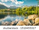 Mountain Lake In National Park...