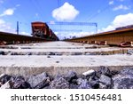 Railway Sleepers And Rails...