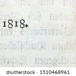 Small photo of The year 1818 taken from the preface to a book printed that year