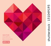 vector geometric heart | Shutterstock .eps vector #151049195