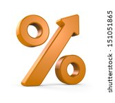 growing percent sign orange | Shutterstock . vector #151051865