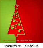 merry christmas card | Shutterstock .eps vector #151055645