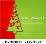 merry christmas card | Shutterstock .eps vector #151055705