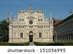 certosa di pavia  italian... | Shutterstock . vector #151056995