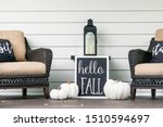 stylish fall decorations in... | Shutterstock . vector #1510594697