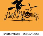 happy halloween. hand drawn... | Shutterstock . vector #1510640051