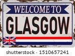 Cities Retro Welcome To Glasgo...