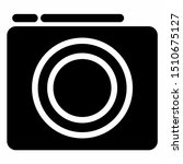 camera icon with glyph style....