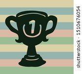 trophy icon icon on stripped... | Shutterstock .eps vector #1510676054