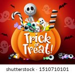 Trick Or Treat Vector Design....