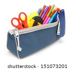 Bag With School Tools On A...