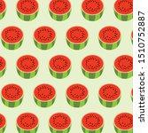 watermelon fruit red green... | Shutterstock .eps vector #1510752887