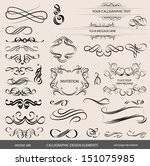 calligraphic elements | Shutterstock .eps vector #151075985