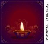 happy diwali beautiful festival ... | Shutterstock .eps vector #1510768157