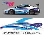car wrap decal graphics.... | Shutterstock .eps vector #1510778741