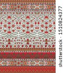 mughal border with paisley... | Shutterstock . vector #1510824377