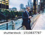handsome gray haired attentive... | Shutterstock . vector #1510837787