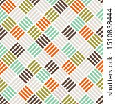 colourful woven geometrical... | Shutterstock .eps vector #1510838444