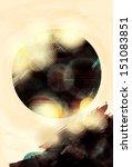 blurry abstract light effect... | Shutterstock .eps vector #151083851