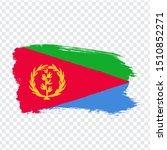 flag eritrea from brush strokes....