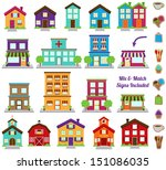 Vector Collection Of City And...