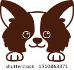 chihuahua puppy front head smile | Shutterstock .eps vector #1510863371