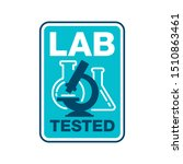 lab tested stamp in rounded... | Shutterstock .eps vector #1510863461