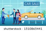 young couple buy a car in the... | Shutterstock .eps vector #1510865441