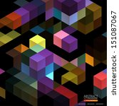 geometric abstract background... | Shutterstock .eps vector #151087067