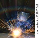 worker welding the steel part... | Shutterstock . vector #151089641