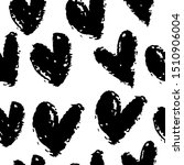 seamless pattern with hearts.... | Shutterstock .eps vector #1510906004