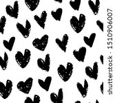 seamless pattern with hearts.... | Shutterstock .eps vector #1510906007