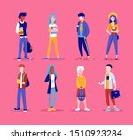 group of young people  standing ...   Shutterstock .eps vector #1510923284