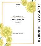chrysanthemum flower card ... | Shutterstock .eps vector #1510927457