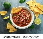 Mexican Tomato Salsa In White...