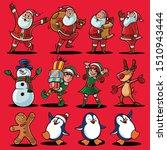 set illustration for christmas... | Shutterstock .eps vector #1510943444