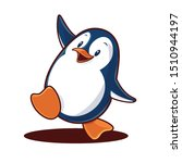 penguin cartoon vector... | Shutterstock .eps vector #1510944197