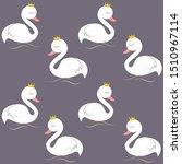 Cute  Swan  Cartoon  Vector...