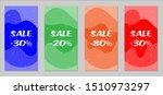 sale flyers. set of vintage...   Shutterstock .eps vector #1510973297
